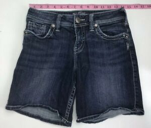 Silver-Jeans-Women-Size-27-SUKI-Shorts-Medium-Wash
