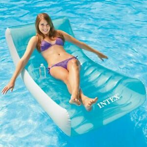 Details about Inflatable Lounge Swimming Pool Floats For Adults Lounger  Cool Rafts Beach Water