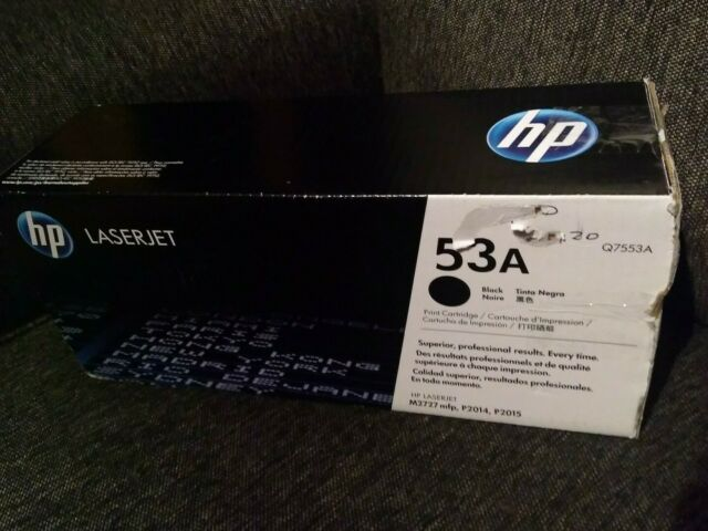 Brand New HP 53A Q7553A OEM Genuine Black Laserjet Toner Print Cartridge Sealed