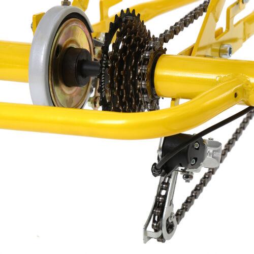 "24/"" Adult Tricycle 3-Wheel 7 Speed Bicycle Trike Bike Cruiser Backrest Ridgeyard"