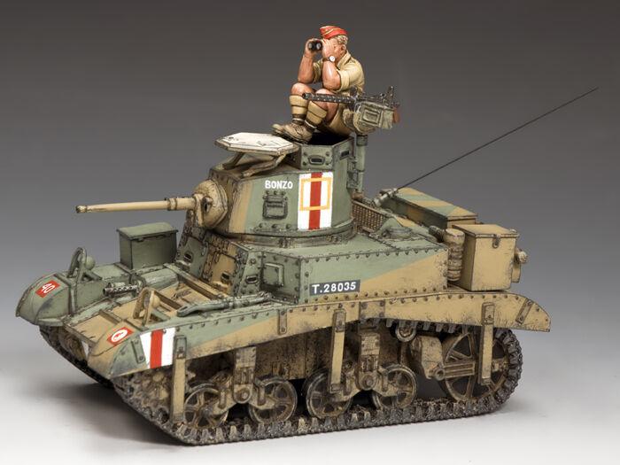 EA106 M3 Stuart  Honey  Desert Tank by King & Country