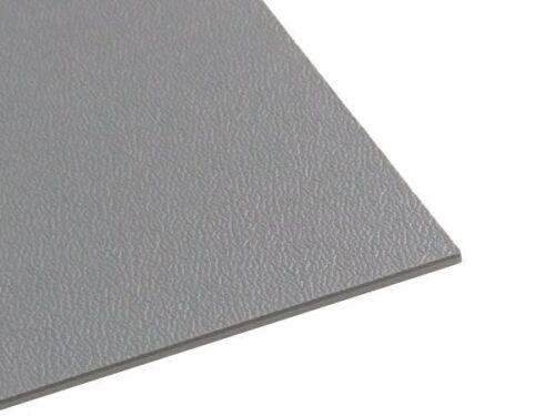 PIASTRA IN PLASTICA ABS//ASA mezzi genarbt 2mm GRIGIO 500 x 300 mm
