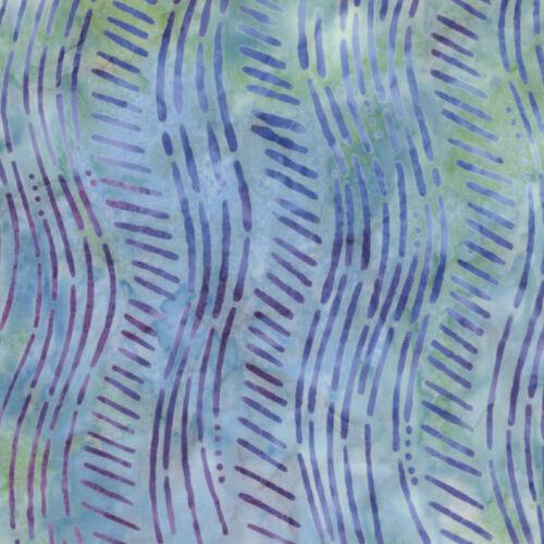 by the 1//2 yard Fabric ~ MODA TROPICANA BATIKS ~ Stripe//Purple Green 4150 20
