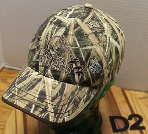 697b60174cbcd DUCKS UNLIMITED MOSSY OAK SHADOW GRASS BLADES HAT ADJUSTABLE ...
