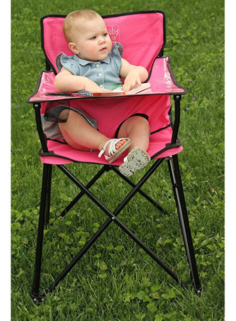f24fafcb4ee9 Pink Baby Travel High Chair Meal Feeding Seat Carry Bag Safety Strap  Foldable