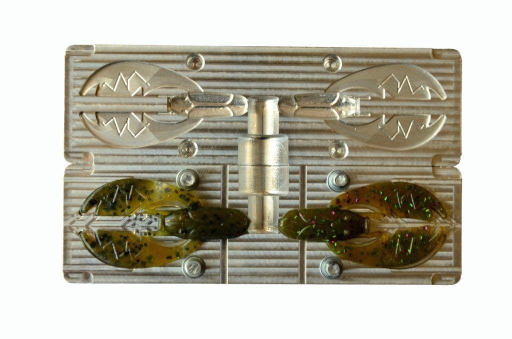 DIY CNC Aluminium Soft Plastic Lure Bait Mold Paca Chunk Molds 2.2  2 cavity