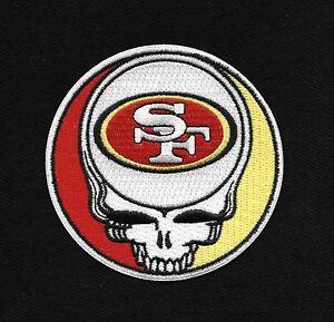 steal your face grateful dead head skull sf 49ers rockabilly biker