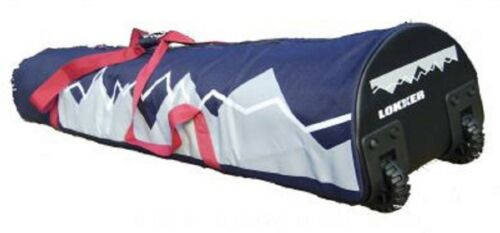 LOKKER Double Wheelie Ski Bag- Up to 2 pairs of skis & poles & all your gear