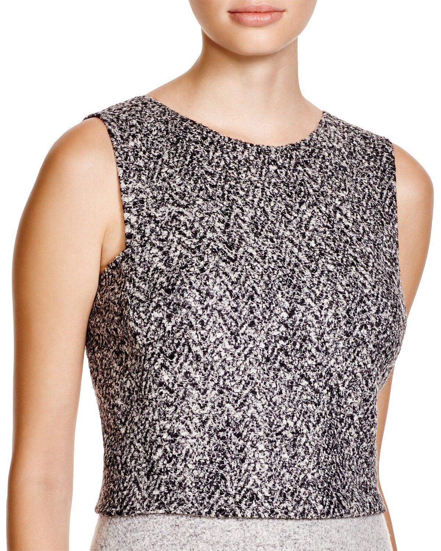 NWT  Theory Pagia Tweed Wool Blend Cropped Top Größe L