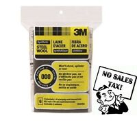 3m Synthetic Steel Wool, 000 - Extra Fine, 6 Pads