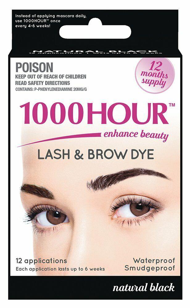 1000 Hour Eyelash & Brow Dye / Tint Kit Permanent Masca
