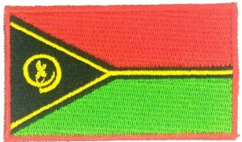 us seller small Republic of  Vanuatu country FLAG sew or Iron On Patch 1643