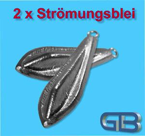 2-x-Stroemungsblei-Angelblei-Grundblei-25g-40g-60g-Karpfenblei-mit-Ose