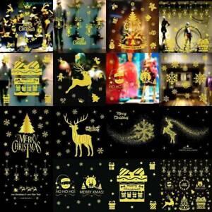 Buon-Natale-in-Vinile-ARTE-Casa-Negozio-Finestra-Wall-Stickers-Decal-Decor-rimovibile
