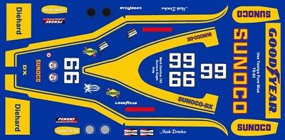 Models & Kits #6 Mark Donohue Sunoco 1973 Indy 1/24th 1/25th Scale Decals Toys & Hobbies