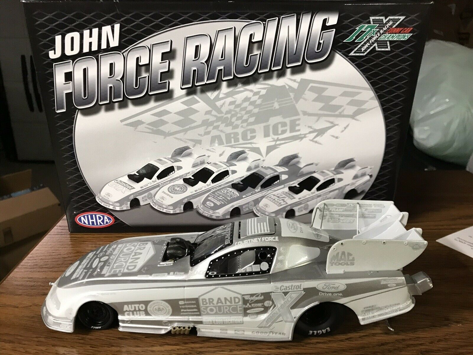 COURTNEY FORCE 1 24 Action 2011 ICE Finish Brandsource Mustang Funny Car NIB