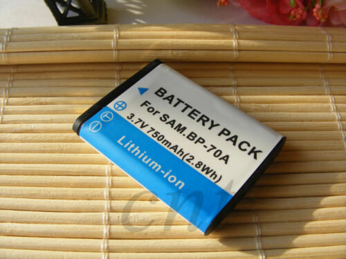 2 Batería BP-70A BP70A para Samsung Digimax ST30 ST60 ST61 Cámara Digital dos