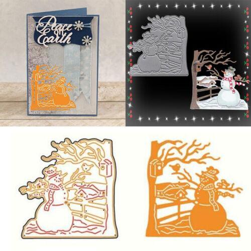 Merry Christmas Metal Cutting Dies DIY Scrapbooking Card Paper Album Embossing