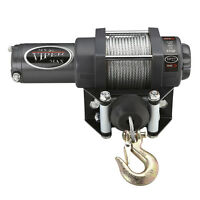 3000lb Viper Max Winch With Steel Cable Cabled Remote & Mount Plate