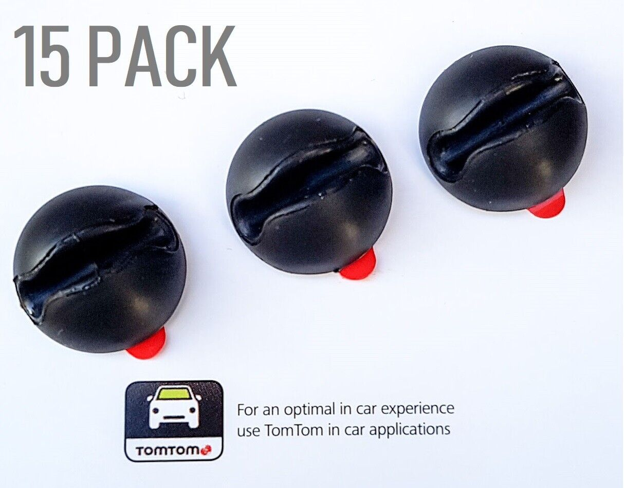 Genuine Tomtom Adhesive Cable Drop Clips In Black Dity Tables (Pack Of 15)