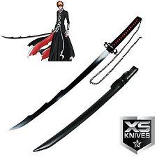 "40"" Ichigo Bankai Bleach Anime TENSA ZANGETSU Samurai Carbon Steel Moon Sword"