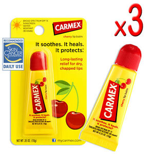 3-x-Carmex-Cherry-Original-Moisturising-Lip-Balm-Tube-Skin-Care-Treatment