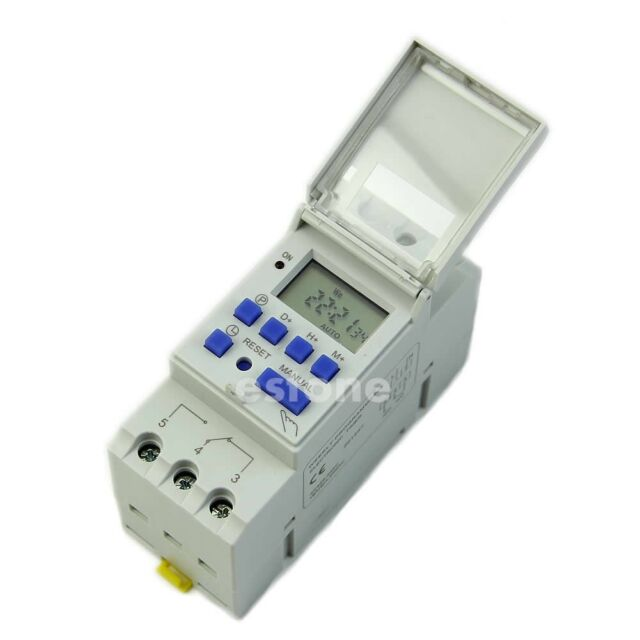 High Quality AC 220V 16A DIN Rail Digital Programmable Timer Switch
