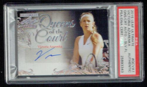 Victoria Azarenka Signé Auto 2015 Feuille Ultime Queens Of The Court 5/5 PSA