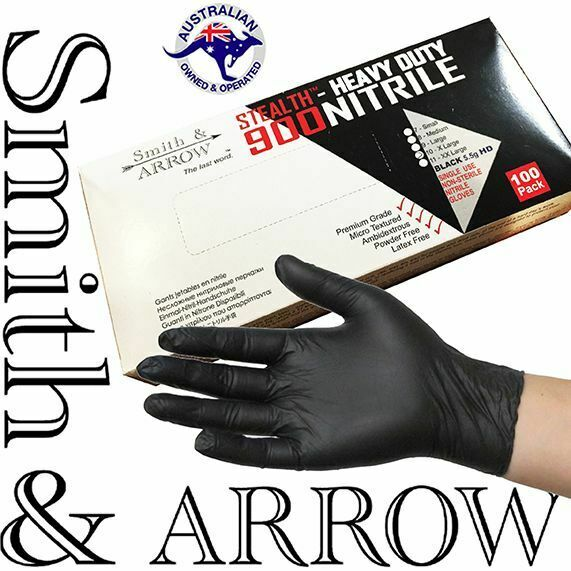 100 / 600 x BLACK DISPOSABLE NITRILE GLOVES MECHANIC MEDICAL RUBBER (LATEX FREE)