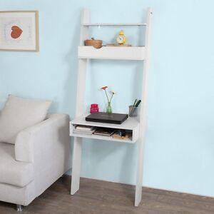 sobuy b cherregal mit schreibtisch standregal wandregal mit ablagen frg111 w ebay. Black Bedroom Furniture Sets. Home Design Ideas