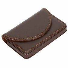 Business Name Card Case Pu Leather Rack Gifts For Travelingcoffee 033