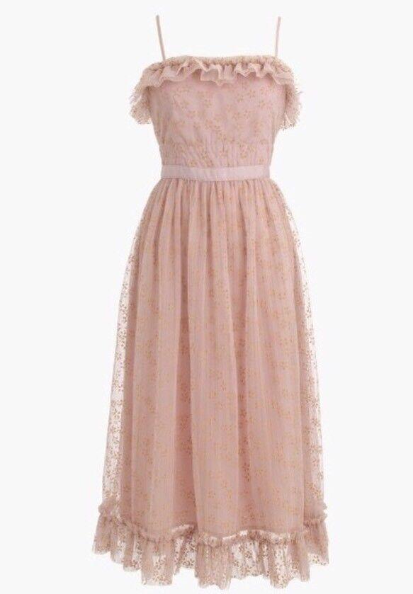 NEW JCREW  178 Ruffly tulle dress Size12 In Ashen Clay G8605 FA17 SOLDOUT