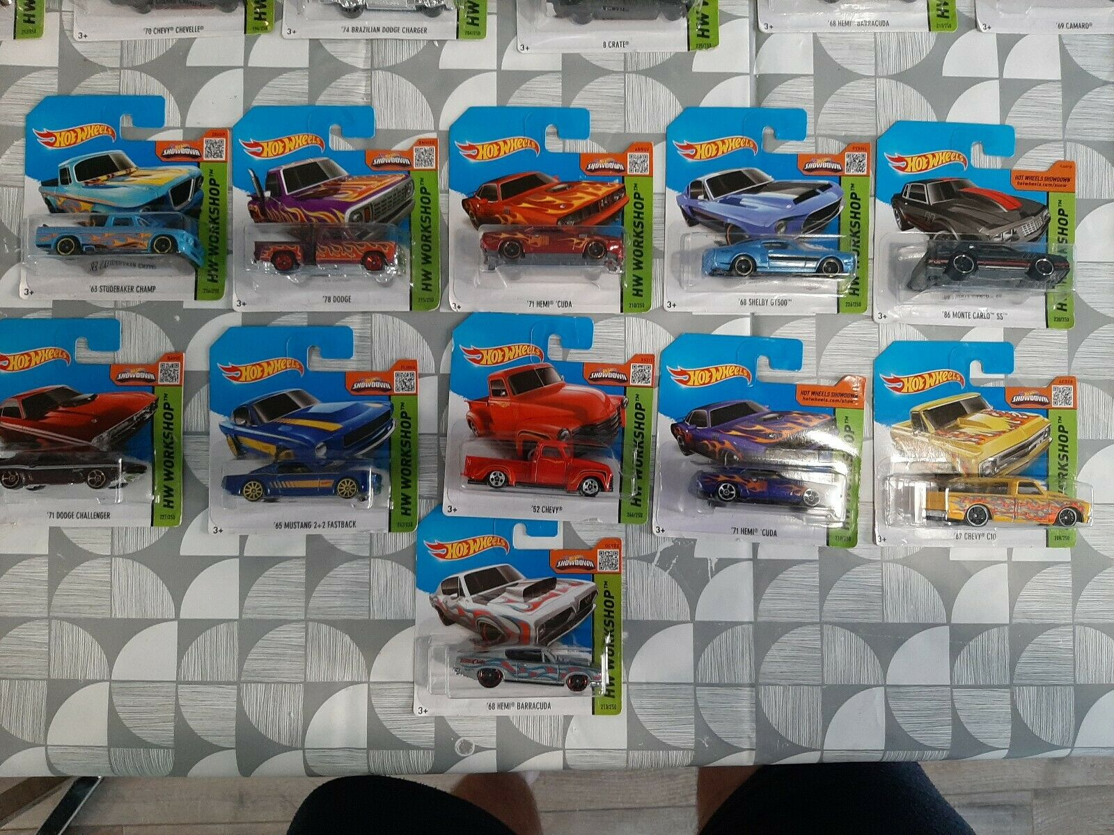 HOTWHEELS 2015 WORKSHOP MUSCLE CARS (SHORT CARD) X11 CARS