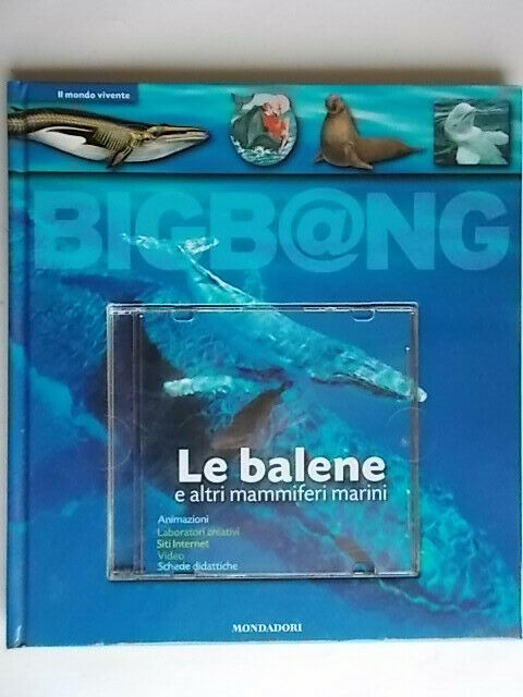 Le balene e altri mammiferi marini libro CD-ROM Cohat yves bambini animali nuovo