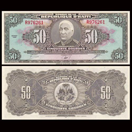 UNC P-249 Haiti 50 Gourdes banknote 1986
