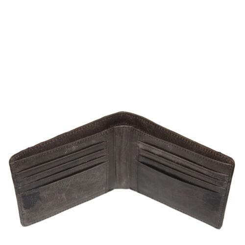Genuine Ostrich Skin Leather Men/'s Bifold Wallet Brown