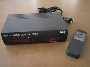 image is loading 4 way selector rca s video video audio