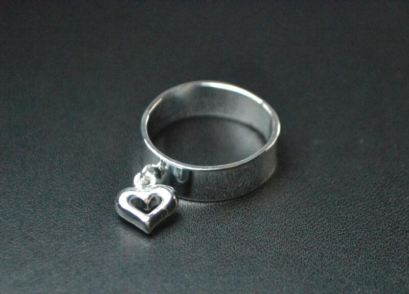 Elegant Simple Unique Silver Heart Ring Friends Lovers Unique(zx5)