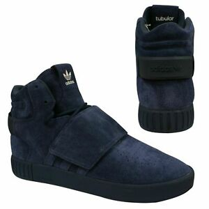 Details about Adidas Tubular Invader Strap Leather Suede Lace Up Mens Trainers BB5036 X39B