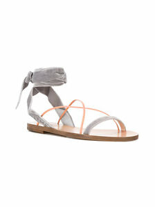 b628336ce03b9 Image is loading Valentino-Garavani-Flat-Velour-Ankle-Wrap-Sandals-MSRP-