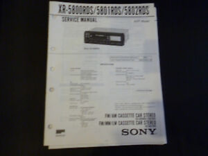 Original Service Manual Sony Xr-5800rds/5801rds/5802rds Tv, Video & Audio