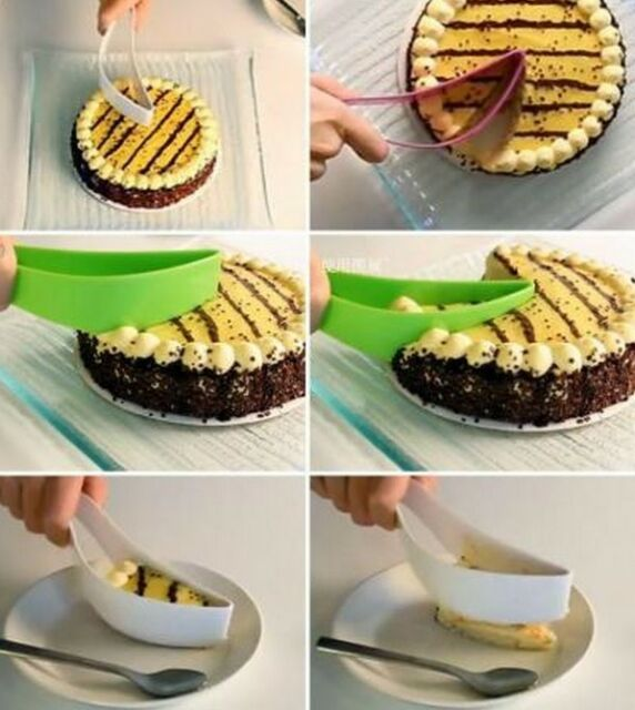 XICA New Cake Slicer Sheet Guide Cutter Server Bread Slice Kitchen Gadget Random