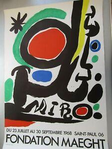 Affiche Joan Miro Fondation Maeght 1968 / Affiche en couleurs 74X51,5cm