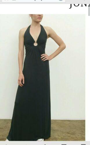 MICHELLE JONAS KEYHOLE HALTER MAXI DRESS BLACK P