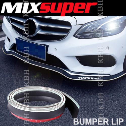 MIXSUPER Rubber Bumper Lip Splitter Chin Spoiler EZ Protector CHROME for Ford