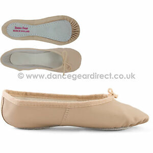 wide fit pink leather ballet shoes sole