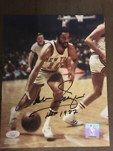 Walt-Clyde-Frazier-Autograph-8x10-Signed-Photo-w-JSA-COA-New-York-Knicks-HOF