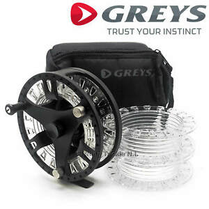 Greys-GTS-500-Fly-Fishing-Reel-With-Carry-Case-amp-2-Spare-Spools-All-Sizes