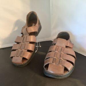 Cobbie-Cuddlers-Brown-Leather-Shoes-Sandals-Size-6-Wide-Elsa