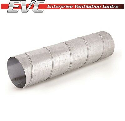 Galvanized Steel Spiral Ducting 3.0m - Hydroponics, Ventilation, Extractor fan